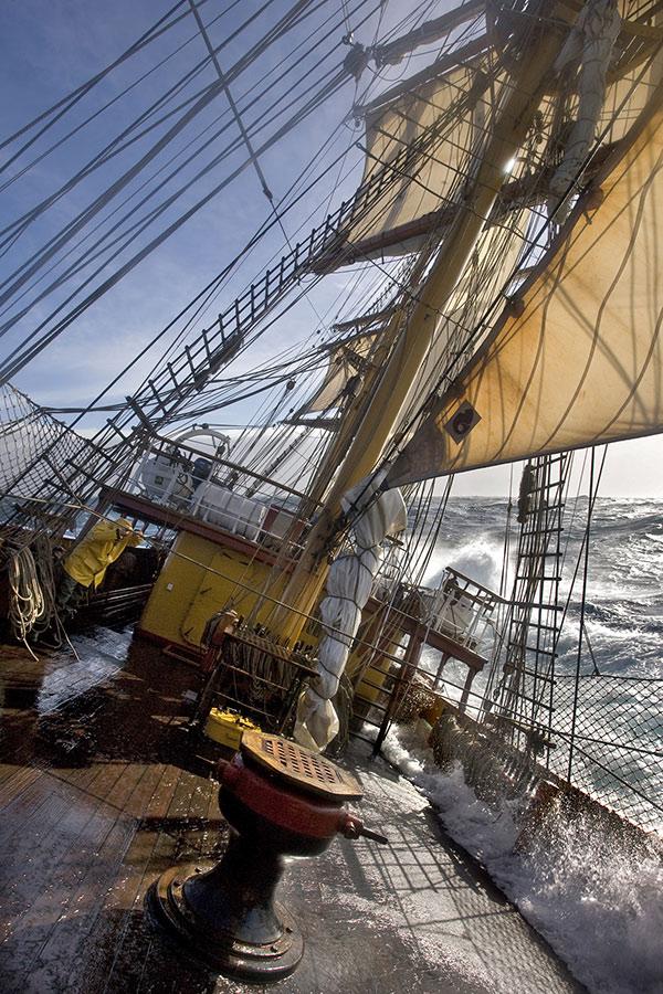 Bark Europa-on-deck